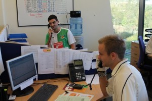 Jonny and Mat - try to achieve a balance between their careers at County Insurance and their sporting futures